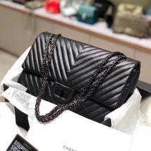 Chanel Black 2.55 Reissue SO BLACK CHEVRON Calfskin 227 Jumbo Double Flap Bag image 9