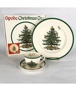 Spode Christmas Tree Buffet Set 3 Piece Box Dinner Plate Cup Saucer England - $24.70