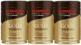 Kimbo Espresso Coffee Italiano Aroma Gold 100% Arabica 3 Cans - $27.56