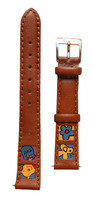 Disney Winnie the Pooh Squares leather Honey Flower Bee 14mm watchband D-112 NWT image 2