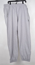 Adidas Wind Pants Gray Ankle Zip Mesh Lining XL  - $39.55