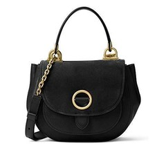 NWT Michael Kors Women's Isadore Leather Shoulder Handbag, Black Size Me... - $174.87