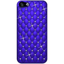 Amzer Diamond Lattice Snap On Shell Case for iPhone 5 5S - Dark Blue - $9.39