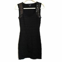 Forever 21 Black Sequins Bodycon Dress S Small Ribbed Sleeveless - $22.99