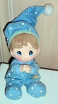 """Precious Moments Plush 6"""" Little Boy Ready 4 Bed in Blue Star Pajamas & ... - $5.89"""