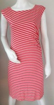 Ann Taylor LOFT Women Sheath Dress Size Medium M Sleeveless Ruched Pullo... - $18.69