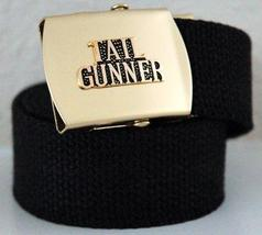 USAF Door Gunner Emblem Black Belt & Buckle  - $14.99