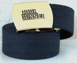 USAF Door Gunner Emblem Blue Belt & Buckle  - $14.99