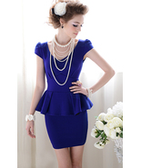 Forever Classy Lady. Royal Blue Peplum Dress. Work Dress Cocktail Dress - $79.90