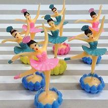 Ballerina Cake Toppers, 12 Mini Ballet Dancer Cupcake Picks with Rosette Bases,  - $15.84