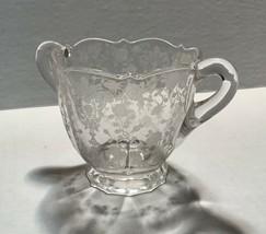 Elegant Cambridge Glass etched, handled sugar bowl, Rose Point Pattern - $27.95