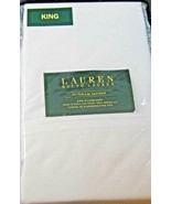 Ralph Lauren Set of Dunham Sateen King Size Pillowcases White -300 Threa... - $41.99