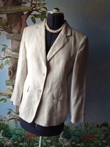 Talbots Women's Beige Irish Lined Blazer Suit Jacket Size 8P - $37.62