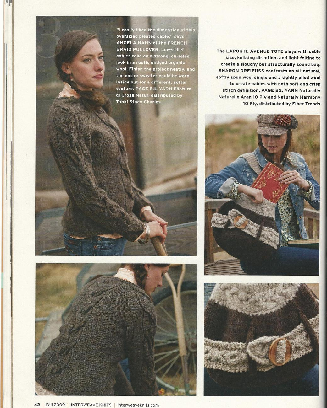 RARE~Interweave Knits Magazine Fall 2009~22 Cozy Knits~The Natural Issue