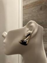 Aterling Silver Abd Black Enamel Earrings Mexico TC-14 - $84.15