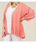 Plus Size Embroidered Kimono, Plus Size Lightweight Cardigans, Womens, C... - $59.99