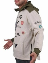 Staple Oatmeal Heather Delta Airforce Good Luck Hoodie NWT image 2