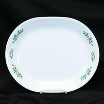 """Corelle Winter Holly Platter 12.25"""" White Vein Christmas - $24.49"""