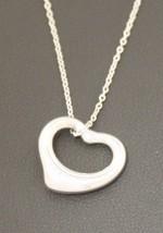 """Tiffany & Co. 925 Sterling Silver 18""""  Elsa Peretti Open Heart Chain Necklace - $125.00"""