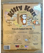 Kitty Kan Traveler Enclosed Disposable Litter Box with Scoops & Bonus Ca... - $24.25