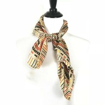 "Vintage ECHO Silk Scarf Striped Multicolor Square Made In Japan 27"" - $19.64"