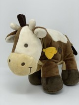 "Koala Baby Plush Cow Brown Cream Rattle Chime Stuffed Animal 11"" Babies R Us - $13.00"