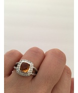 Pre Owned David Yurman Petite Albion Citrine  and Diamond Ring Size 7 - $320.00