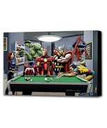 Marvel Superheroes Play Pool - Mounted Canvas (various sizes) - $29.99+