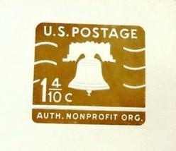 USPS Scott U547 1-1/4c Liberty Bell Authorized Non Profit Envelope Lot of 7 - $6.96