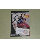 Dale Earnhardt Jr Autographed card 2006 Nascar Signings - $10.99