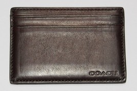 Coach Legacy Bleecker Leather Id Card Case in Dark Brown - $19.00