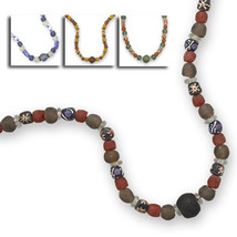 Hand Crafted African Trade Bead Necklace - $92.99