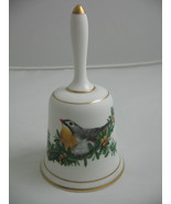 1981 Bone China Garden Bird Bell Terence Lambert Pekin Robin by Royal Do... - $16.83