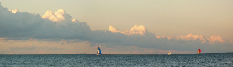 K. Iuppa Cottage Cloud Lake Sailboat 2 Fine Art Print