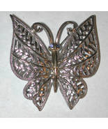 Vintage signed Butterfly silver/gold-tone Pin/Brooch - $14.00