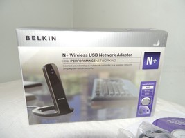 BELKIN N+ Wireless USB Network Adapter High Performance Networking Inter... - $19.99