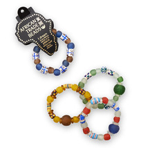Hand Crafted African Trade Bead Stretch Bracelet - $48.99