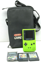 Nintendo Game Boy Color Model #CGB-001 Green w/ 3 Games Gallery 2+Toy St... - $46.74