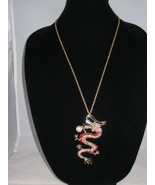 NEW Betsey Johnson Red Rhinestone Dragon Pendant with a lo... - $24.50