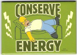The Simpsons Homer Sleeping Conserve Energy Refrigerator Magnet NEW UNUSED - $3.99