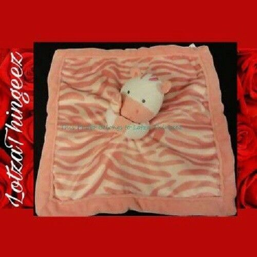 Carter's Pink Zebra Lovey Baby Security Blanket Toy Plush Soft