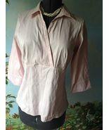 Marks & Spencer Women's 3/4 Sleeve Pink Blouse Top Shirt Size 18 UK/ 16 US - $33.66