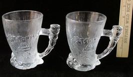 Lot 2 Matching Flintstones McDonalds Glass Mugs Mammoth 1993 RocDonalds - $12.86