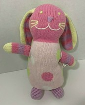 Hanna Andersson Bunny Rabbit Plush pink Sweater Knit sock monkey polka dot - $29.69