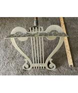 """Vintage Brass """"Lyre Harp Design"""" Music Stand  52"""" - $247.50"""