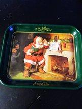 Vintage Coca Cola Metal Tray Santa Claus Dear Santa 1989 Made in USA image 3
