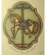 "Alice Scott ""Night Carousel Horse"" S/N Etching 67/350 - $18.59"