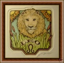 "Alice Scott Horoscope"" Leo"" Etching Original - $14.19"