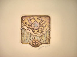 "Alice Scott Horoscope ""Cancer"" Etching Signed LTD ED - $14.19"