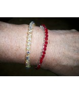 BRACELETS  HANDMADE TENNIS YOUR CHOICE OF COLOR - $22.00